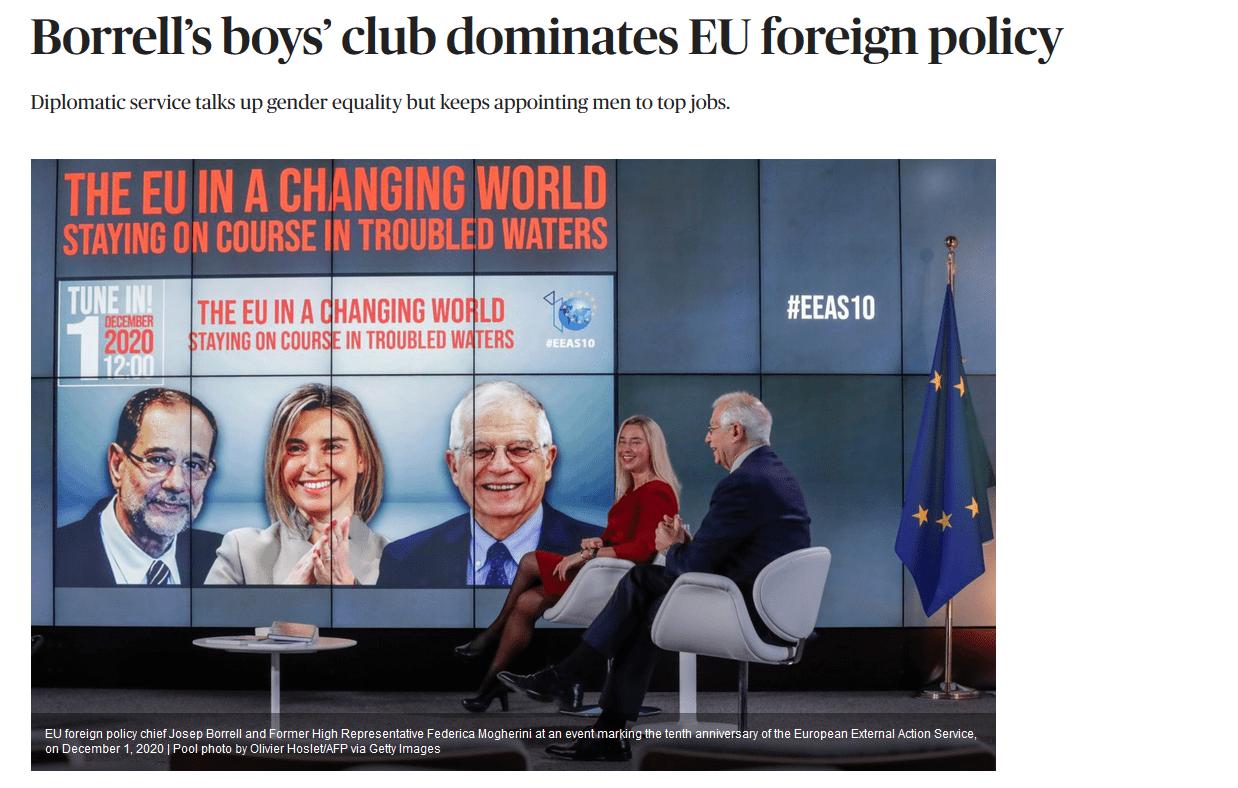Borrell's boys' club