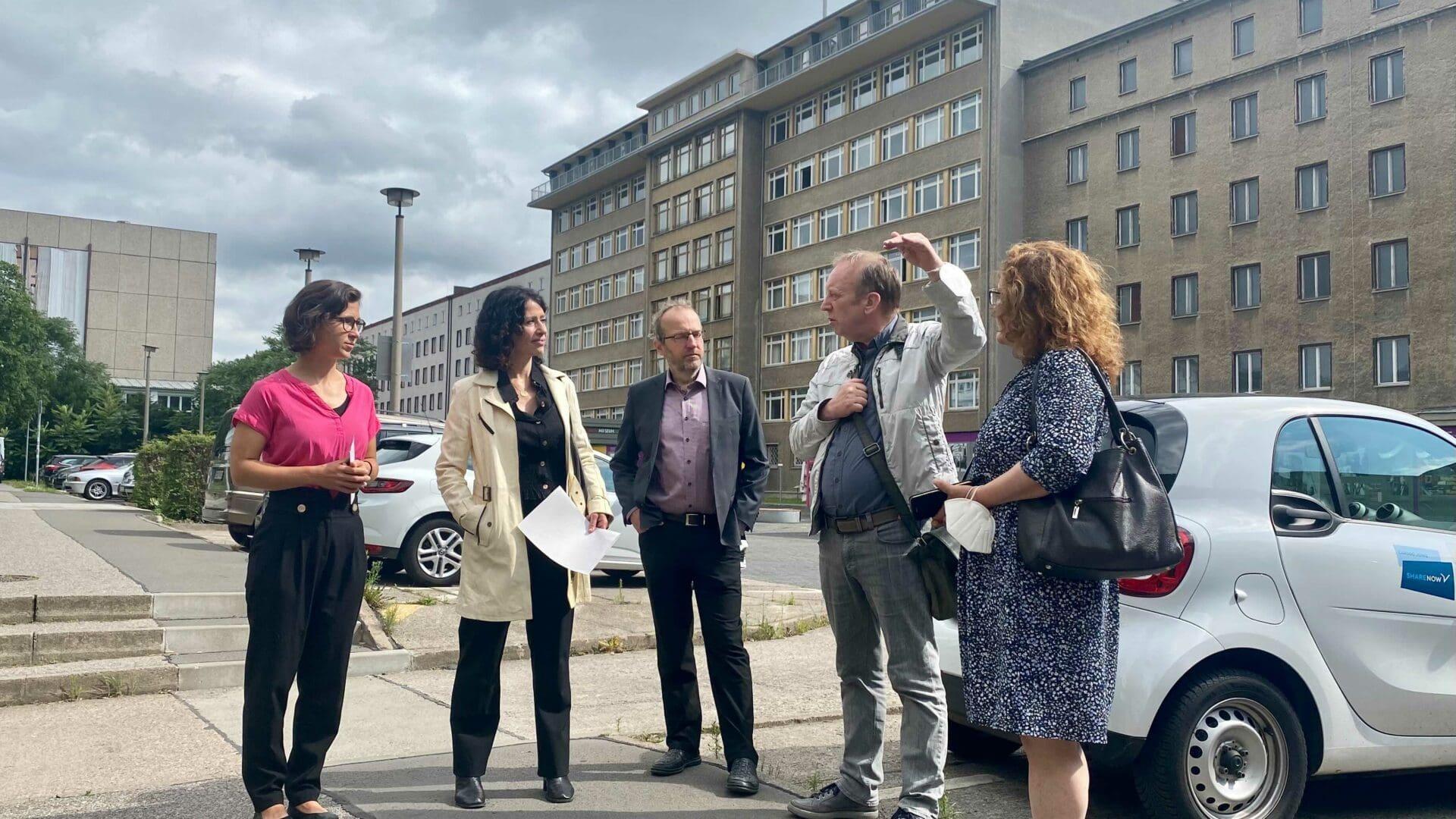 Mit unserer Berliner Spitzenkandidatin Bettina Jarasch auf dem Campus für Demokratie