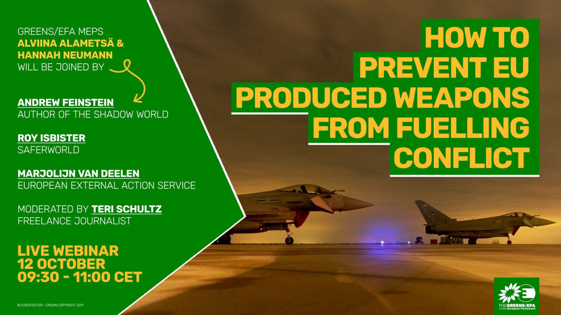 Kampagne: Wie kann verhindert werden, dass in der EU hergestellte Waffen Konflikte anheizen?